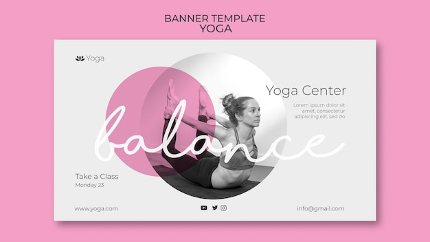 Modèle de bannière de cours de yoga