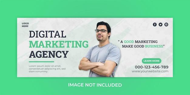 Modèle de bannière de couverture facebook de marketing d'entreprise