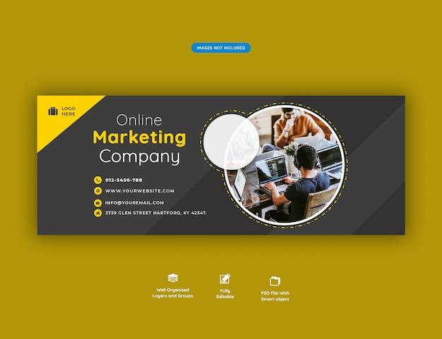 Modèle de bannière de couverture facebook promotion des entreprises