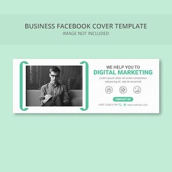 Modèle de bannière de couverture de médias sociaux simple