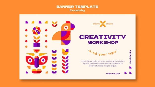 Modèle de bannière de créativité