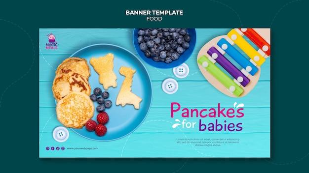 Modèle de bannière de crêpes pour bébé