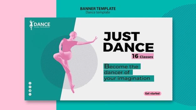 Modèle de bannière de danse avec femme
