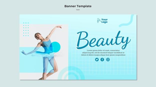 Modèle de bannière de danseur de ballet avec photo