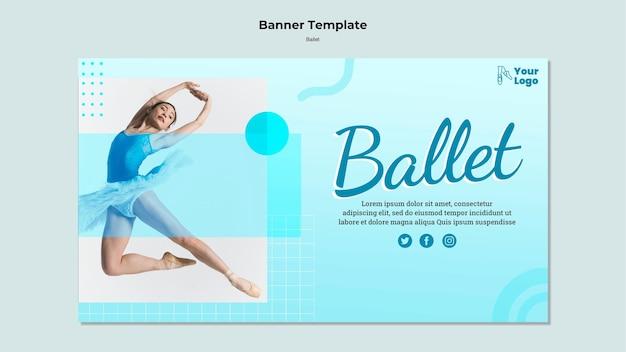 Modèle de bannière de danseur de ballet
