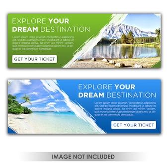 Modèle de bannière de destination de rêve