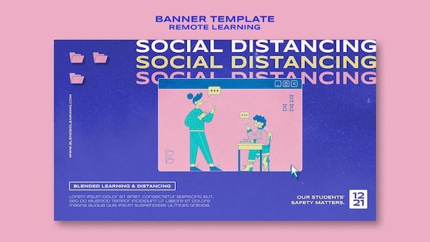 Modèle de bannière de distanciation sociale
