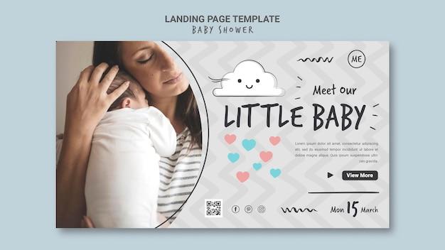 Modèle de bannière de douche de bébé