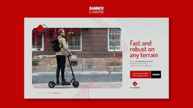 Modèle de bannière e scooter