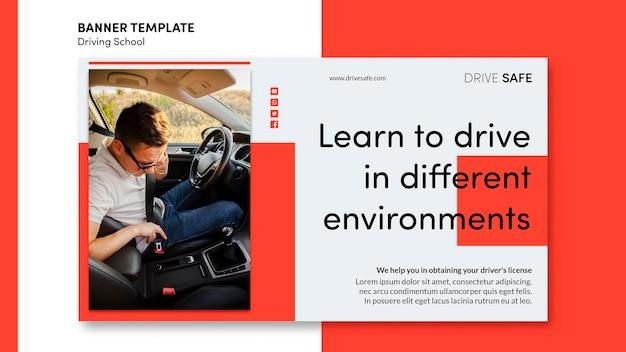 Modèle de bannière école de conduite