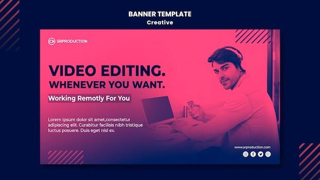 Modèle de bannière d'édition vidéo