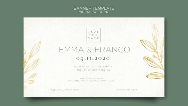 Modèle de bannière élégante pour le mariage