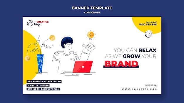 Modèle de bannière d'entreprise illustré