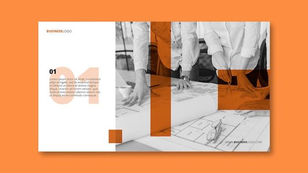 Modèle de bannière d'entreprise moderne avec image