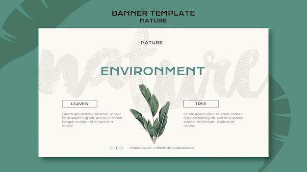 Modèle de bannière d'environnement nature