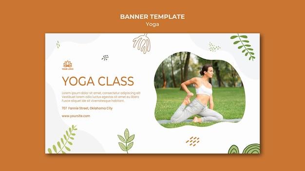 Modèle de bannière d'équilibre corporel yoga