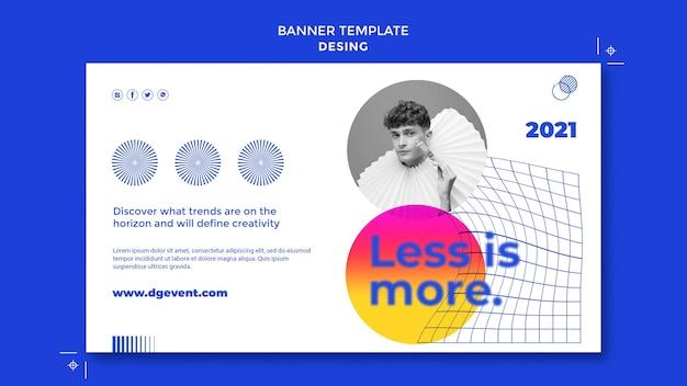 Modèle de bannière d'événement de conception