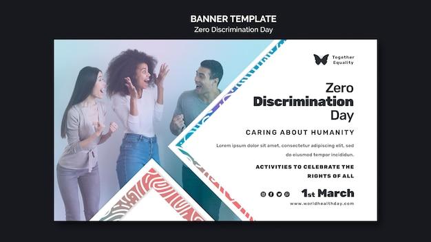 Modèle de bannière d'événement de jour zéro discrimination