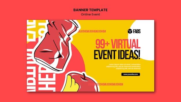 Modèle de bannière d'événement en ligne