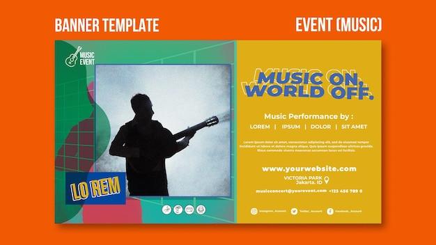Modèle de bannière d'événement musical