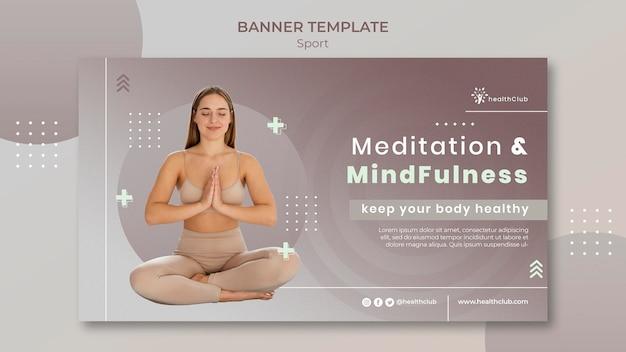 Modèle de bannière d'exercices de yoga