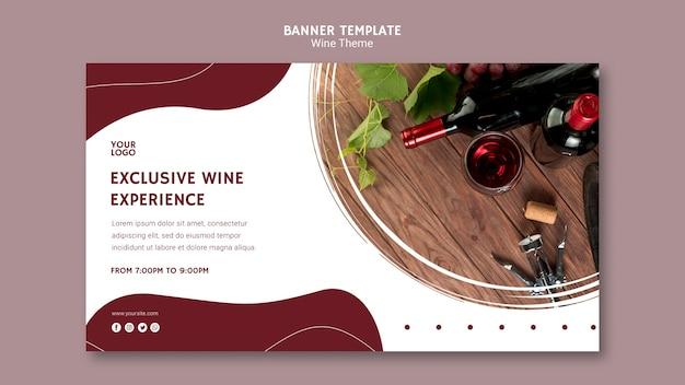 Modèle de bannière d'expérience viticole exclusive