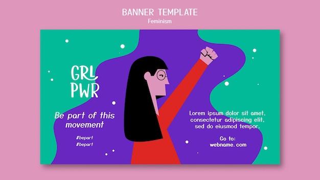 Modèle de bannière de féminisme