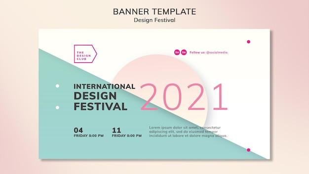 Modèle de bannière de festival de conception