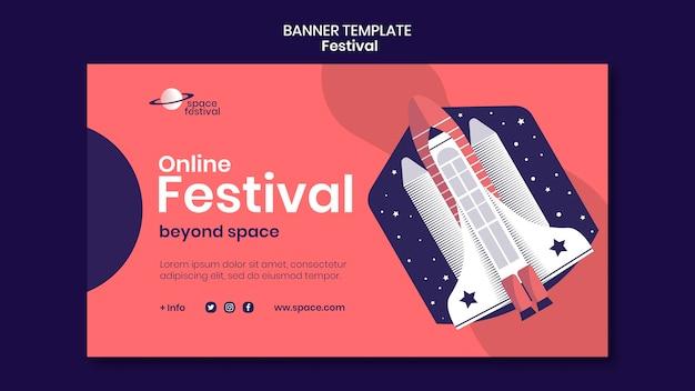 Modèle de bannière de festival