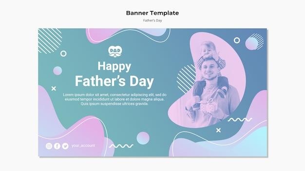 Modèle de bannière de fête des pères coloré