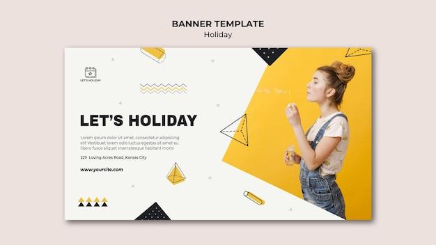 Modèle de bannière de fête de vacances