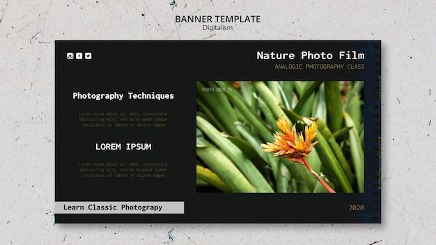 Modèle de bannière film photo nature