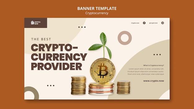Modèle de bannière de fournisseur de devises crypto