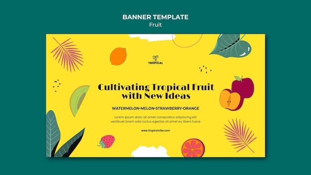 Modèle de bannière de fruits