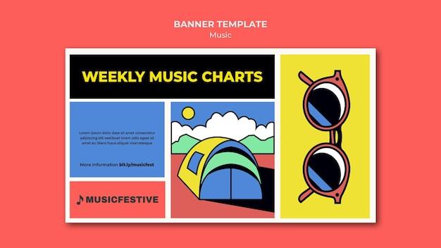 Modèle de bannière de graphiques de musique