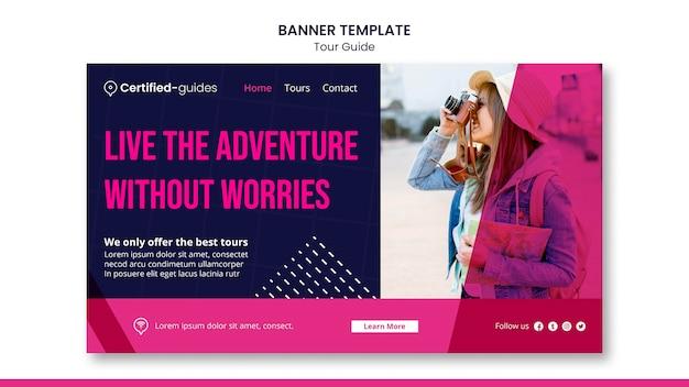 Modèle de bannière de guide touristique
