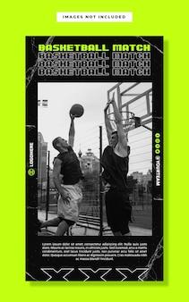 Modèle de bannière d'histoire instagram de basket-ball féminin