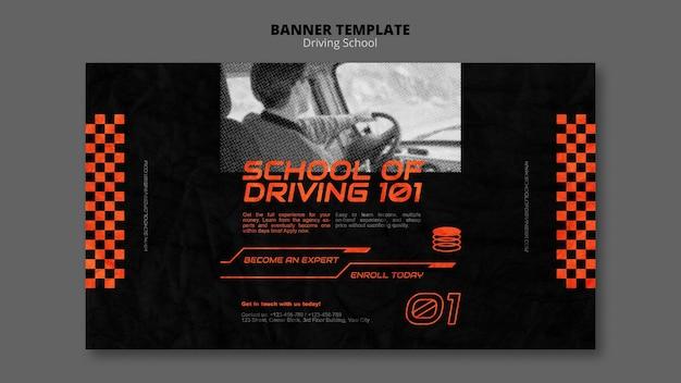 Modèle de bannière horizontale de concept de conduite