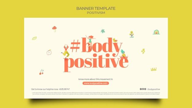 Modèle de bannière horizontale positive de corps