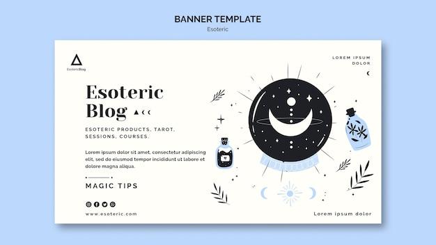 Modèle de bannière horizontale pour blog ésotérique