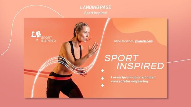 Modèle de bannière horizontale pour l'entraînement de fitness