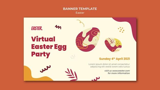 Modèle de bannière horizontale pour le jour de pâques