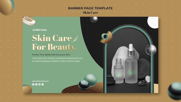 Modèle de bannière horizontale pour les produits de soins de la peau