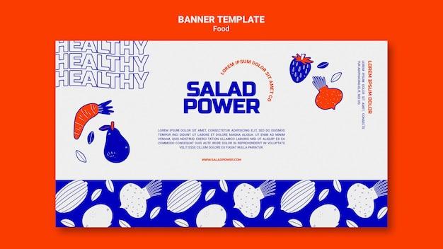 Modèle de bannière horizontale pour la puissance de la salade