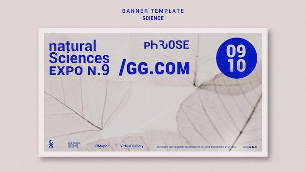 Modèle de bannière horizontale de sciences naturelles