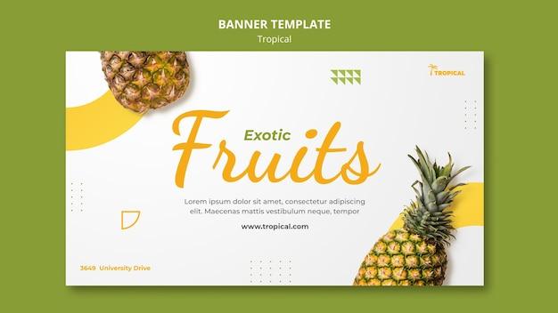 Modèle de bannière horizontale de vibes tropicales
