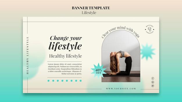 Modèle de bannière horizontale de yoga