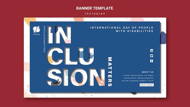Modèle de bannière d'inclusion compte