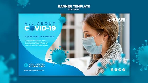 Modèle de bannière d'informations sur le coronavirus