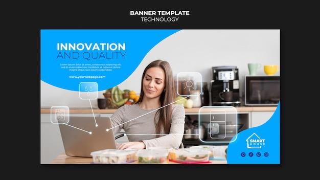Modèle de bannière d'innovation technologique